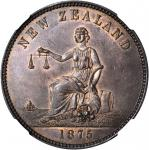 NEW ZEALAND. Christchurch. S. Clarkson. Penny Token, 1875. NGC MS-64 BN.