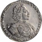 RUSSIA. Ruble, 1722. Peter I (the Great) (1689-1725). NGC AU-50.