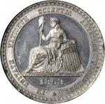 1853 Crystal Palace. Type I. White Metal. 45 mm. HK-6. Rarity-6. MS-62 PL (NGC).