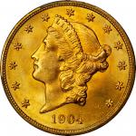 1904 Liberty Head Double Eagle. MS-66+ (PCGS). CAC.