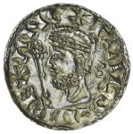 Harold II (1066), Penny, 1.38g, 11h (to mm.) PAXS type, Lewes, Oswold, +HAROLD REX ANG, crowned bust