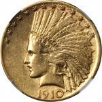 1910-S Indian Eagle. AU-50 (NGC).