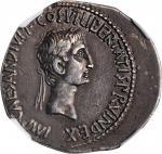 OCTAVIAN. AR Cistophorus (10.93 gms), Ephesus Mint, 28 B.C. NGC Ch EF, Strike: 4/5 Surface: 4/5. Lig