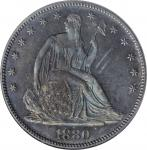 1880 Liberty Seated Half Dollar. WB-102. Type II Reverse. MS-64 (NGC).