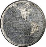 Great Britain. Undated (ca.1820) World Globe Medal. White Metal. 51.2 mm. Eimer-1139b. Mint State.