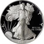 1995-W Silver Eagle. 10th Anniversary Set. Proof-69 Deep Cameo (PCGS).