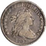 1797 Draped Bust Silver Dollar. BB-71, B-3. Rarity-2. Stars 10x6. VF-25 (PCGS).