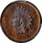 1877 Indian Cent. Snow-PR3. Proof-66 BN (PCGS).