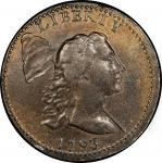 1793 Liberty Cap Cent. Sheldon-13. Liberty Cap. Rarity-4-. About Uncirculated-55 (PCGS).