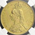 GREAT BRITAIN Victoria ヴィクトリア(1837~1901) 5Pounds 1887 NGC-MS61 AU