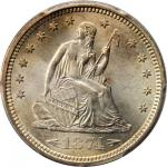1874-S Liberty Seated Quarter. Arrows. Briggs 3-A. MS-66+ (PCGS). CAC.