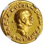 VESPASIAN, A.D. 69-79. AV Aureus (7.19 gms), Rome Mint, A.D. 69-70. NGC Ch F★, Strike: 5/5 Surface: