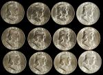 BU Roll of 1954-S Franklin Half Dollars.