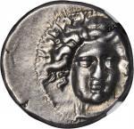 THESSALY. Larissa. AR Drachm (6.07 gms), ca. 4th Century B.C.