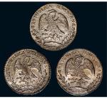 墨西哥花边鹰洋银币三枚