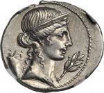 OCTAVIAN. AR Denarius (3.69 gms), Unknown Italian Mint, ca. 32-31 B.C.