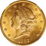 1897自由帽双鹰 NGC MS 62