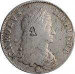 GREAT BRITAIN. Crown, 1662. Charles II. London Mint. FINE Details, Countermark.