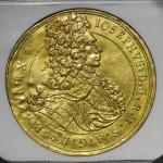 "HOUSE OF HABSBURG Josef I ヨーゼフ1世(1705~1711) 5Ducats 1708 NGC-AU Details ""Plugged"" 目立たぬ穴埋ある以外 -EF"