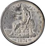 1874-S Trade Dollar--Chopmark--AU-55 (PCGS).