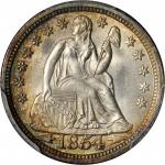1854 Liberty Seated Dime. Arrows. MS-67 (PCGS).
