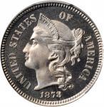 1878 Nickel Three-Cent Piece. Proof-66 Cameo (PCGS). CAC.