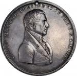 1817 James Monroe Indian Peace Medal. Second Size. Julian IP-9, Prucha-41. Silver. Extremely Fine.