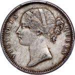 India, British, silver 1/2 rupee and 1/4 repee, both 1840(C or B), Victoria on obverse, PCGS XF45 an
