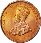 CEYLON. Cent, 1926. London Mint. PCGS SPECIMEN-66 Red Gold Shield.