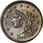 1838 Modified Matron Head Cent. N-1. Rarity-1. MS-65 BN (PCGS). CAC.