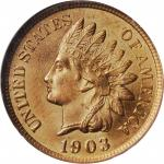 1903 Indian Cent. MS-66 RD (NGC). CAC. OH.