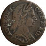 1785 Connecticut Copper. Miller 4.4-C, W-2375. Rarity-3. Mailed Bust Right. VF-25 (PCGS).