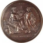 1876 United States Diplomatic Medal. Bronze. 68 mm. Julian CM-15. SP-64BN (PCGS).