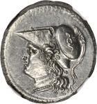 SICILY. Syracuse. Fifth Democracy, 214-212 B.C. AR 12 Litrae (10.10 gms). NGC MS, Strike: 5/5 Surfac