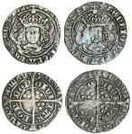 Henry VII (1485-1509), Groats (2), both type IIIC, 2.88g, m.m. crowned leopard?s head/pansy, henric