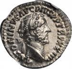 ANTONINUS PIUS, A.D. 138-161. AR Denarius (3.48 gms), Rome Mint, A.D. 160-161. NGC MS, Strike: 5/5 S