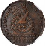 "1787 (ca. 1860) Fugio Copper. ""New Haven Restrike."" Newman 104-FF, W-17560. Rarity-3. Copper. MS-63"