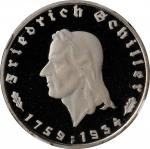 GERMANY. Third Reich. 2 Mark, 1934-F. Stuttgart Mint. NGC PROOF-67 Ultra Cameo.