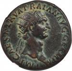TRAJAN, A.D. 98-117. AE Dupondius (11.03 gms), Rome Mint, ca. A.D. 98-99.
