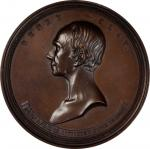 1852 Henry Clay Memorial Medal. Bronzed Copper. 76.5 mm. By Charles Cushing Wright. Julian PE-8. Cho