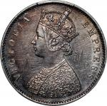 India, British, a pair of silver 1/2 rupee, 1893-B, 1862(B or M), Victoria on obverse, both PCGS XF