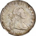 1801 Draped Bust Half Dollar. O-101, T-2. Rarity-3. VF-35 (NGC).