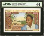 CAMEROON. Banque Centrale. 5000 Francs, ND (1962). P-13. PMG Choice Uncirculated 64.