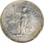 1898-B年英国贸易银元站洋壹圆银币。孟买铸币厂。 GREAT BRITAIN. Trade Dollar, 1898-B. Bombay Mint. Victoria. PCGS Genuine-