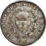 COLOMBIA. 1848/7 pattern 2 Reales. Popayán mint. Restrepo P36. Silver. SP-64 (PCGS).