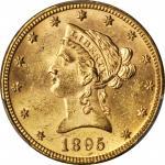 1895 Liberty Head Eagle. MS-62+ (PCGS). CAC.