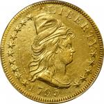 1795 Capped Bust Right Eagle. BD-3, Taraszka-3. Rarity-6. 9 Leaves. AU Details--Repaired (PCGS).