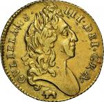 William III (1694-1702), Half-Guinea, 1696, laureate bust right, elephant and castle below, rev. cro