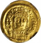 JUSTIN II, 565-578. AV Solidus (4.48 gms), Constantinople Mint, 4th Officinae.