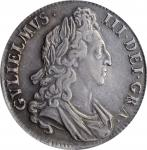 GREAT BRITAIN. Crown, 1695. London Mint. William III. PCGS Genuine--Devices Outlined, AU Details Gol